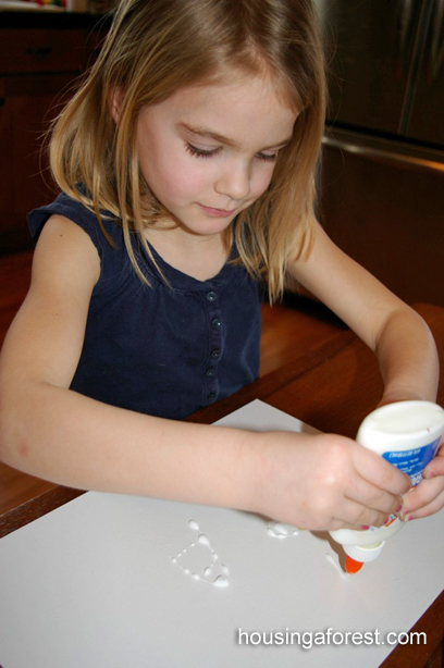 Raised Salt Painting ~ kids love watching the watercolor travel along the salt. A little art and a little science!