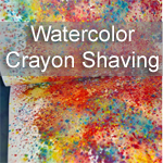 Watercolor Crayon Shavings