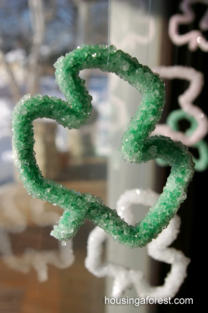 Borax Shamrock Crystals ~ Easy Saint Patrick's Day science experiment