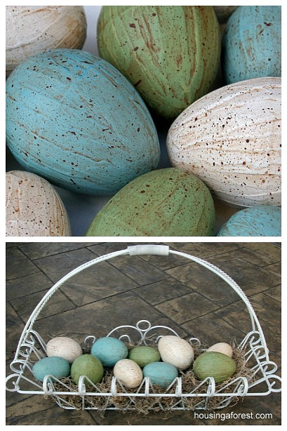 Easter Decoration Revamp ~ Transform your plastic eggs into something beautiful with this simple DIY tutorial.