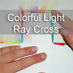 Colorful Light Ray Cross