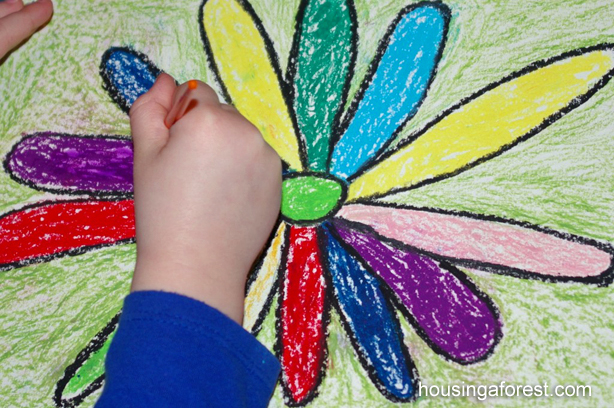 Georgia O'Keeffe Flowers ~ simple art for kids