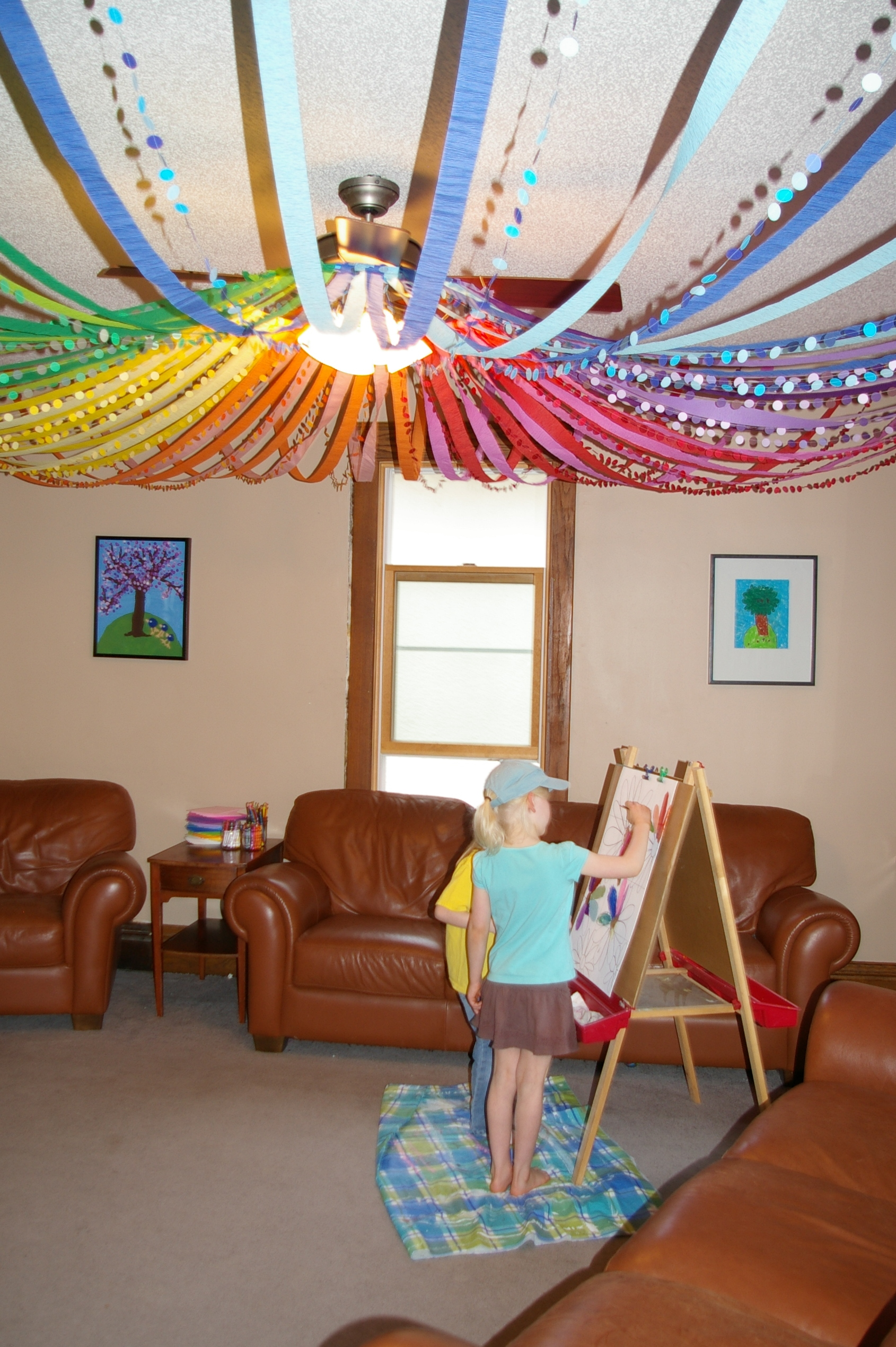 Decorating With Paper Flowers Wall Art
