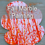 Fall Marble Painting