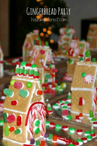 Simple Christmas Gingerbread Party Ideas for Kids