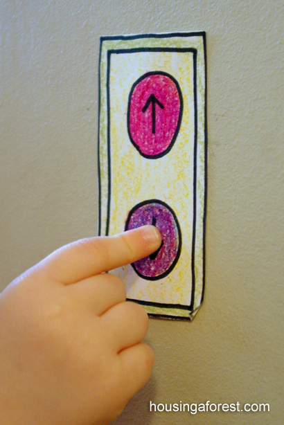 Pretend Elevator ~ simple imaginative play for kids