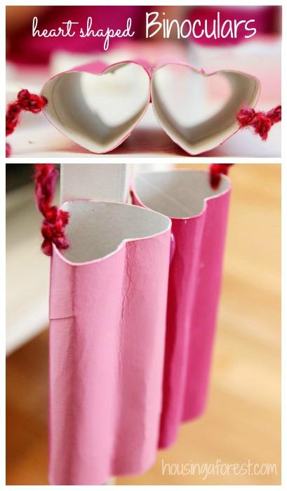 Heart Shaped Binoculars ~ Valentine craft ideas