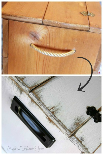 Wooden chest ~ how to distress furniture