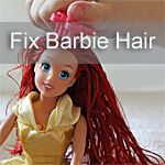 Fix Barbies Hair