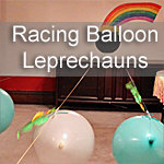Racing Balloon Leprechauns