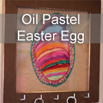 Oil Pastel Easter Egg