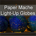 Paper Mache Light-Up Globes