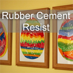 Rubber Cement Resist