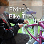 Fixing a Bike Tire
