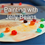 Painting with Jelly Beans