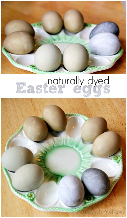 How to make natural dyed Easter eggs