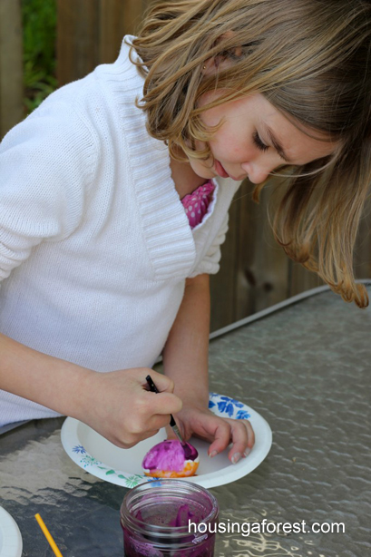 Volcano Egg Dyeing ~ Easter Egg Decorating Ideas