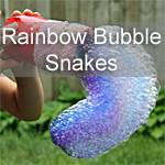 Rainbow Bubble Snakes