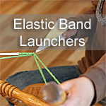 Elastic-band Launchers