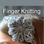Finger Knitting ~ DIY Halloween Garland