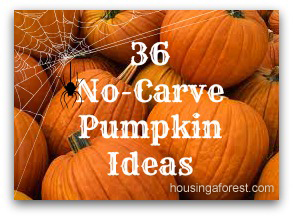 36 No-Carve Pumpkin Ideas & 36 Creative No-Carve Pumpkins | Housing a Forest
