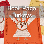 Book Page Turkeys