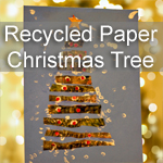 Recycled Paper Christmas Tree