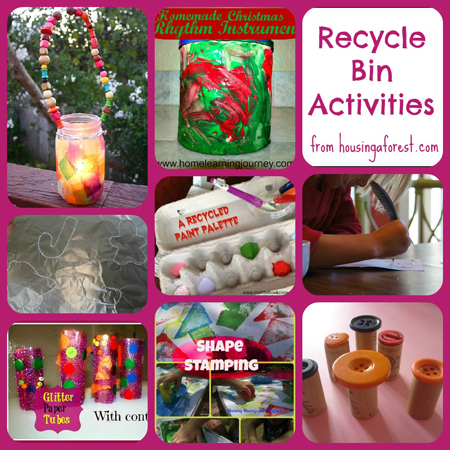 Recycle bin activities weekly kids co op 3 housing a for Recycling ideas for kids