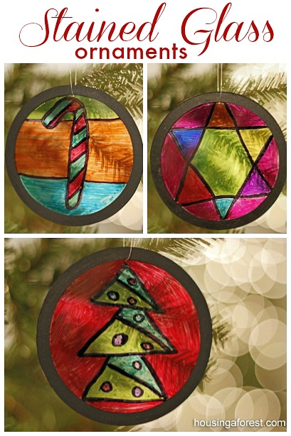 Homemade Ornaments Are A Fun Christmas Craft Recycled Stained Glass
