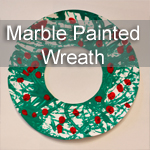Marble Painted Wreath