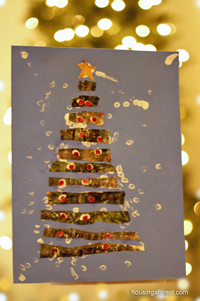 Recycled Paper Christmas Tree Craft