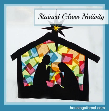 Stained Glass Nativity Craft