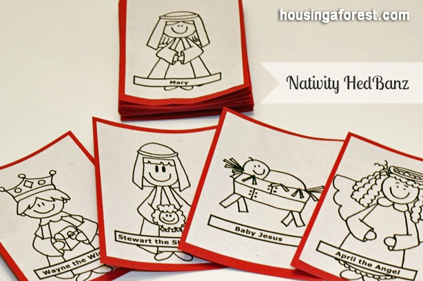 Creative ways to teach kids the true meaning of christmas housing nativity hedbanz game solutioingenieria Images