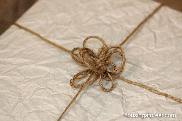 Anthropologie inspired Pompom Wrapping Paper