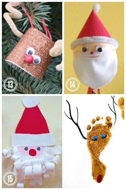Santa and his Reindeer ~ Christmas Crafts for kids