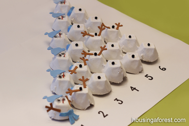 Simple Counting Snowman Craft and Activity ~ Housing A Forest