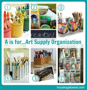 A is for...Art Supply Organization