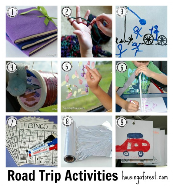 Road Trip Activities great for kids
