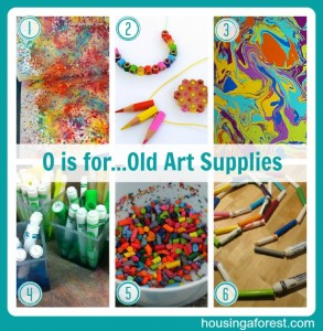 O is for...Old Art Supplies