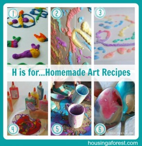 H is for...Homemade Art Recipes
