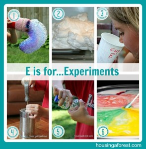 E is for...Experiments