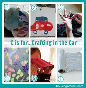 C is for...Crafting in the Car