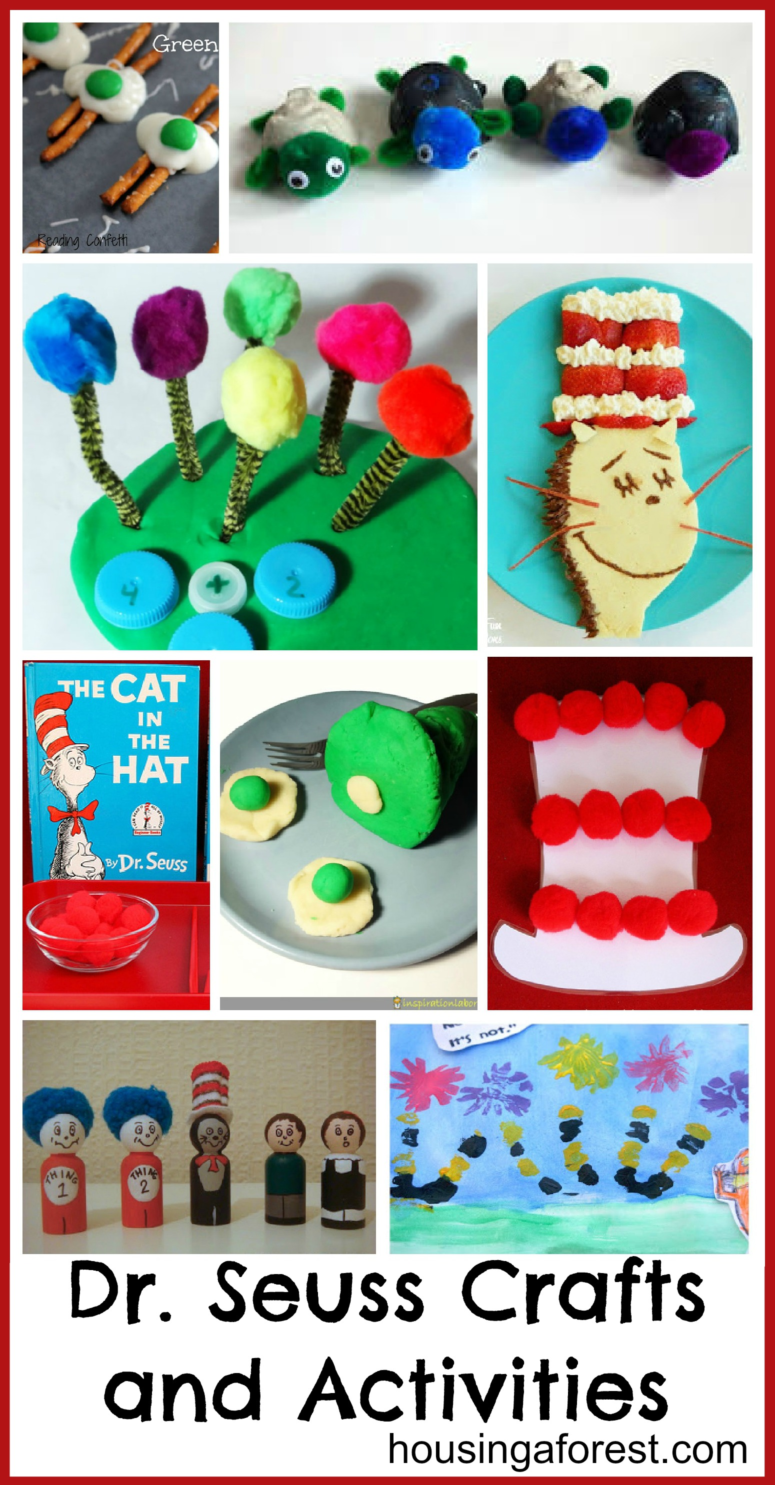 Dr seuss crafts and activities housing a forest for Art and craft games