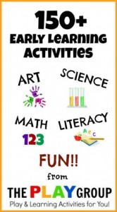 Early Learning activities for kids from the PLAY group