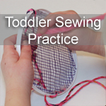 Toddler Sewing Activity