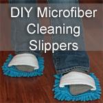DIY Microfiber Cleaning Slippers