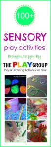 Over 100 FUN sensory play ideas from the PLAY group