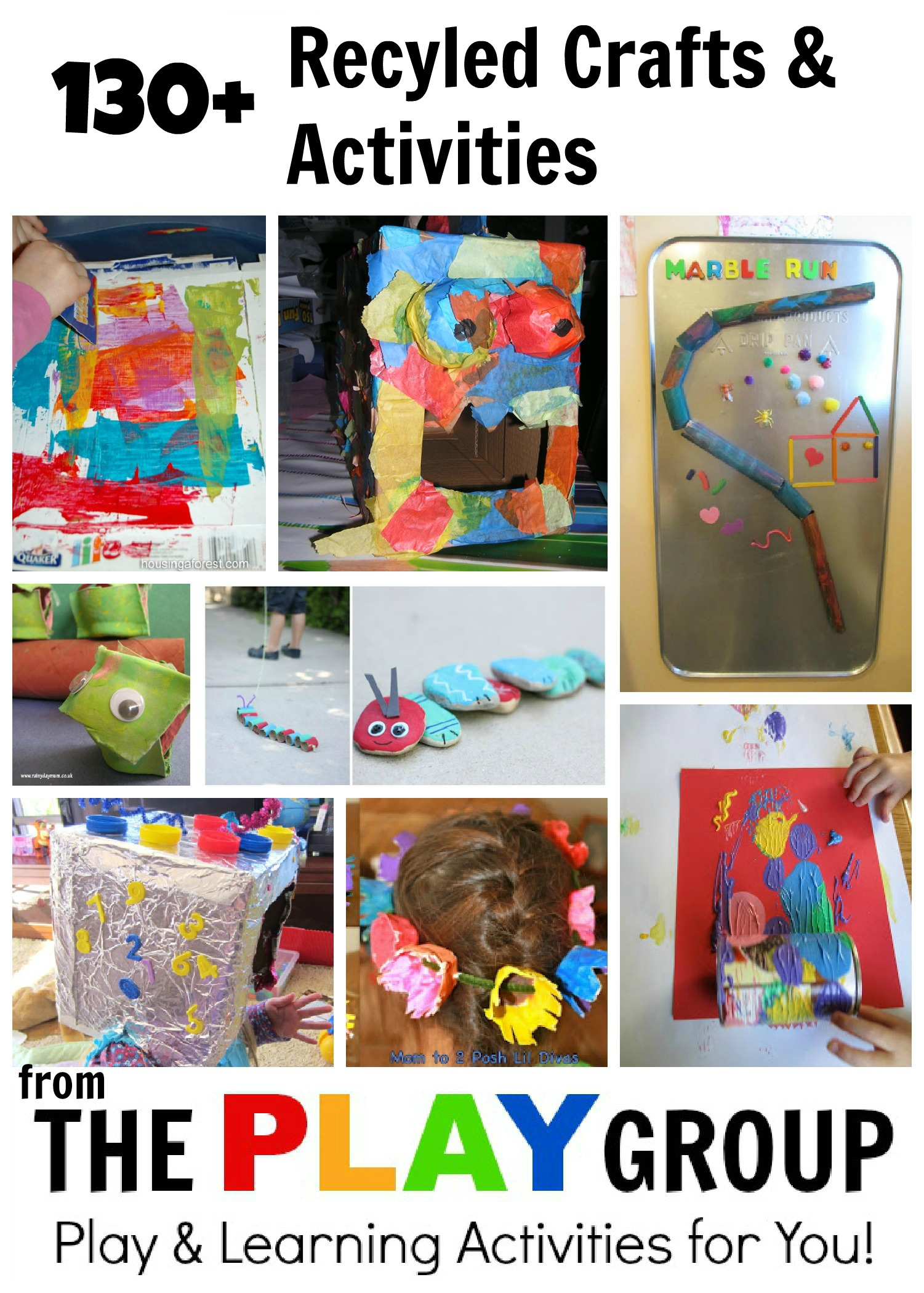 Recycled crafts activities from the play group housing for Art n craft from waste