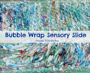 bubble wrap sensory slide