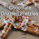 Chocolate Drizzled Pretzels